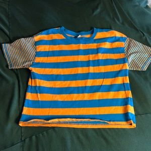 Tops - 🍃3 for $25🍃 BDG Orange and Blue Stripped Tee